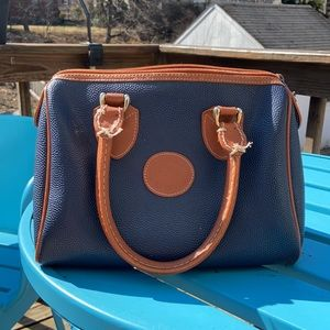 Vintage saddle River leather mini tote bag